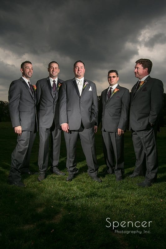 groomsmen at Brookside Farm