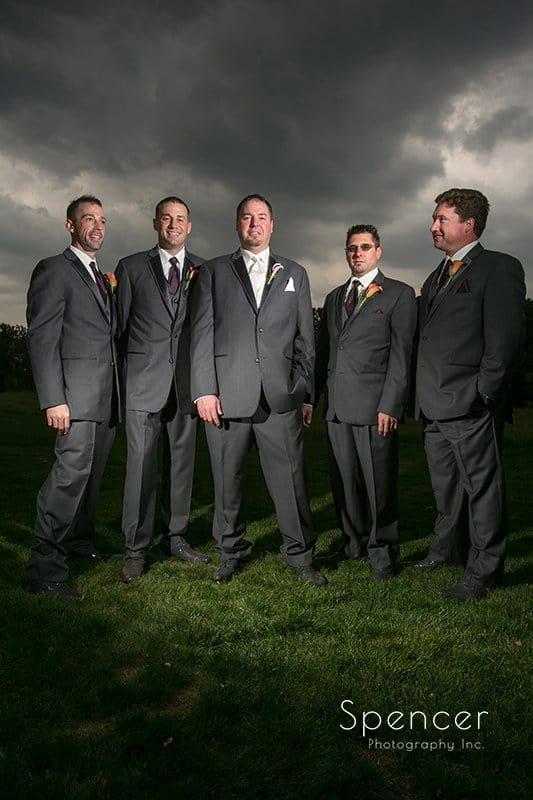 groomsmen at Brookside Farm