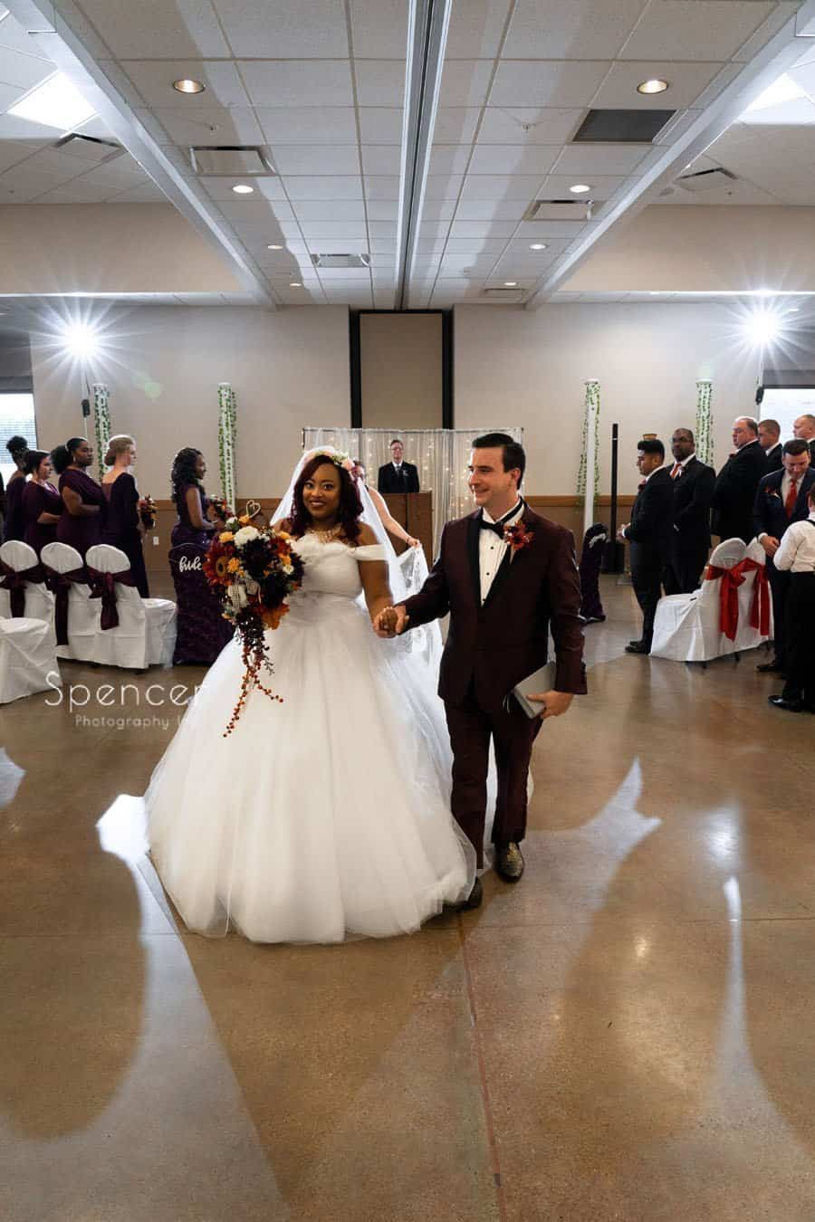 wedding recessional in Oberlin Ohio