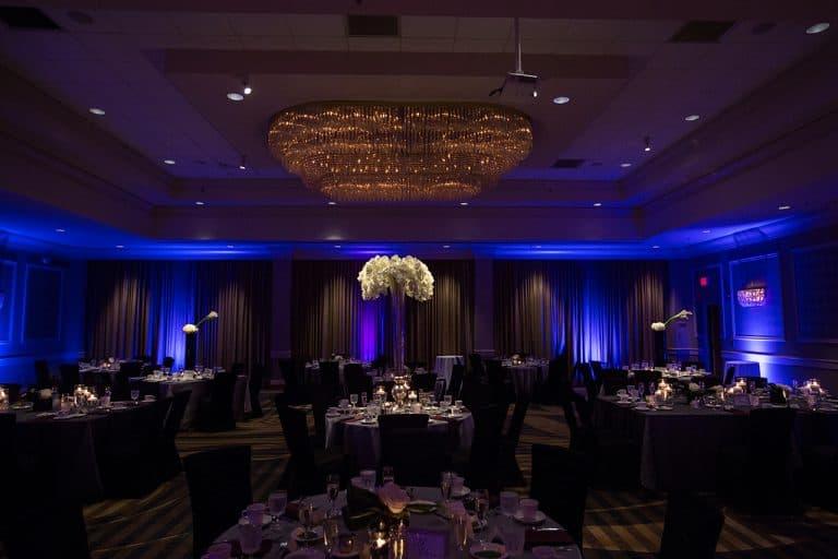 wedding reception detail at Cleveland Ritz Carlton Hotel