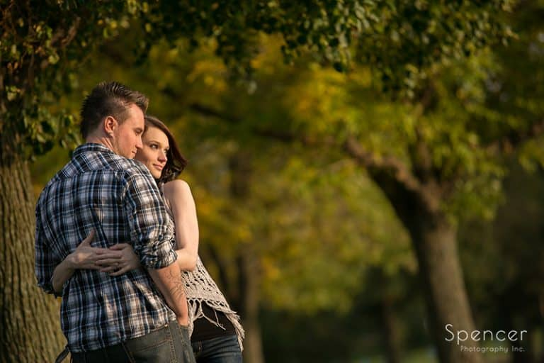 Fall Engagement Pictures at Edgewater Park // Cleveland Photographers