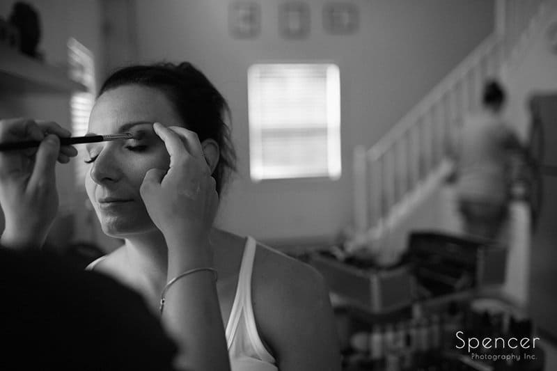 bride preparing for wedding at Country Cottage and Gardens