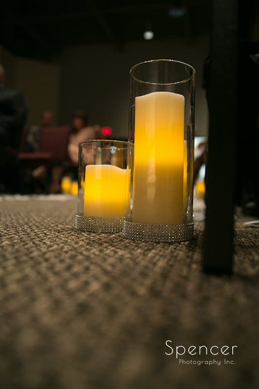 wedding candles at Cuyahoga Valley Church
