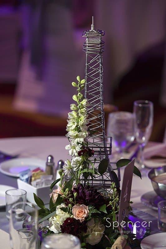 wedding centerpiece at Embassy Suites Beachwood