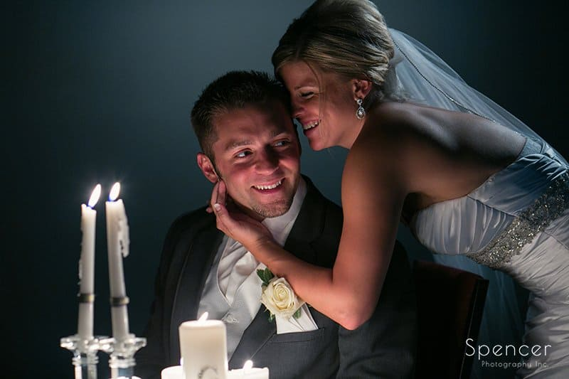 artistic wedding picture at Cuyahoga Valley Church