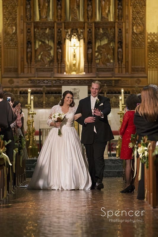 wedding recessional at Cathedral of St John the Evangelist