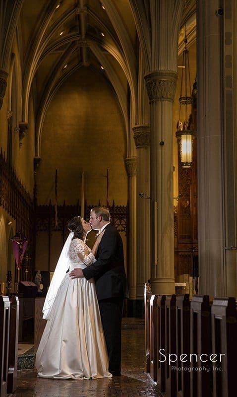 beautiful wedding picture at Cathedral of St John the Evangelist
