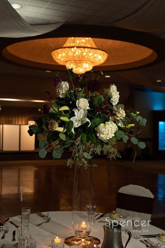 table centerpiece at LaMalfa wedding reception
