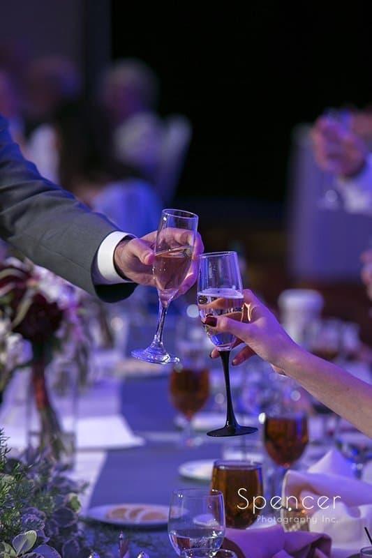 a wedding toast at Beachwood Ohio Embassy Suites