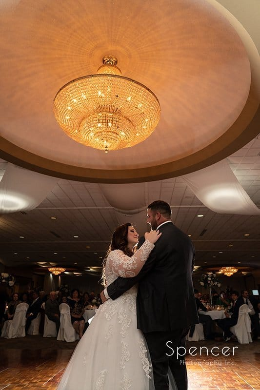 bride and groom dancing at their wedding reception at LaMalfa