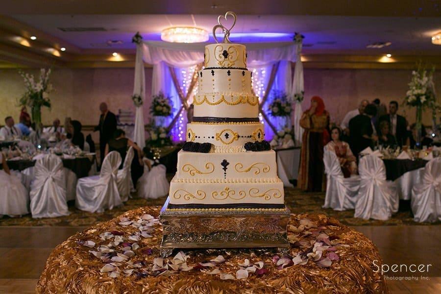wedding cake at Muslim wedding in Cleveland