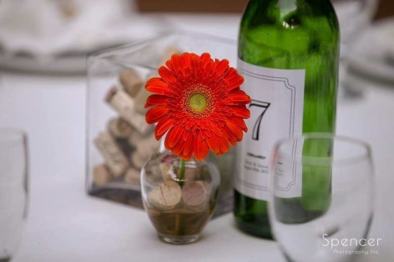 wedding reception detail at Country Cottage and Gardens