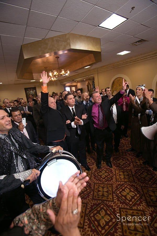 groom enters Muslim wedding reception in Cleveland