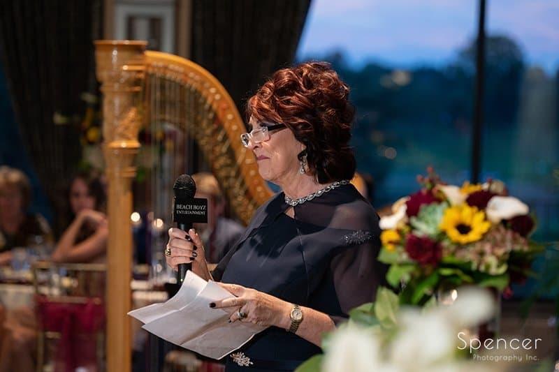 mother of bride speech at Firestone Reception