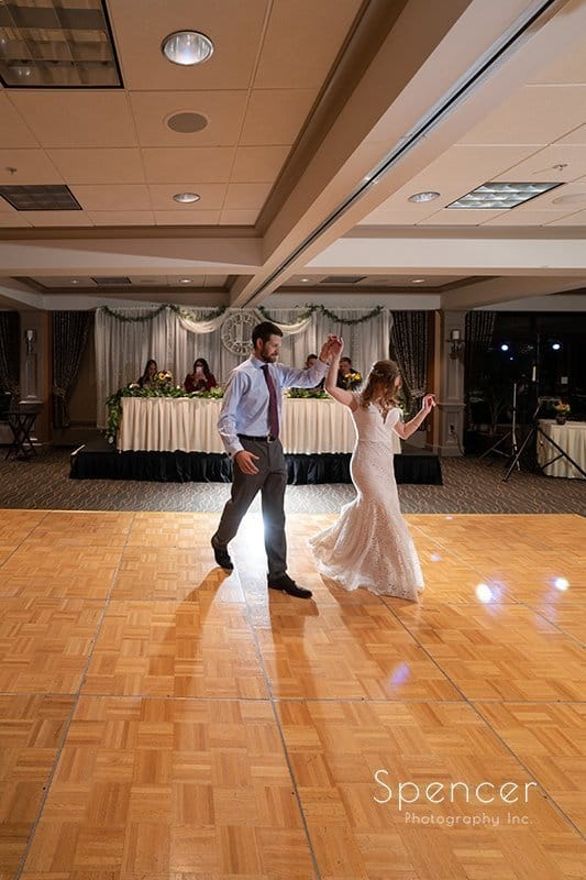 first dance at firestone country club wedding
