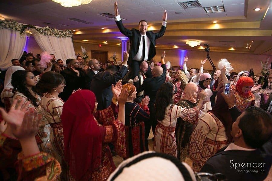 Muslim wedding reception celebration