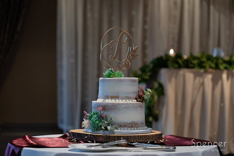 wedding cake at Firestone Country Club wedding reception