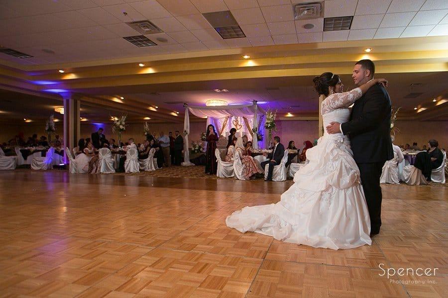 first dance at Muslim wedding reception at La Villa
