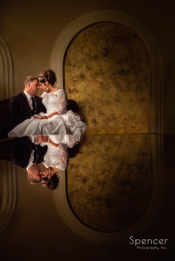 gorgeous wedding picture of bride and groom at La Villa