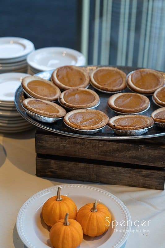 deserts set out at wedding reception at Firestone