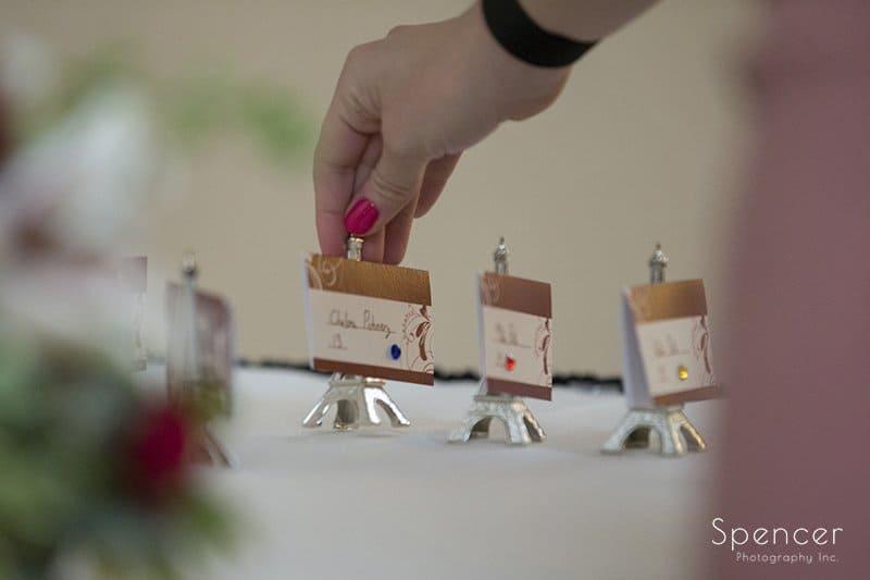 unique wedding reception detail at Embassy Suites
