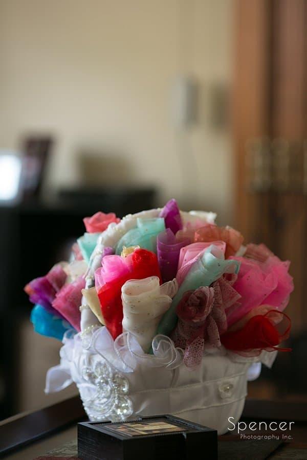flower basket before Muslim wedding