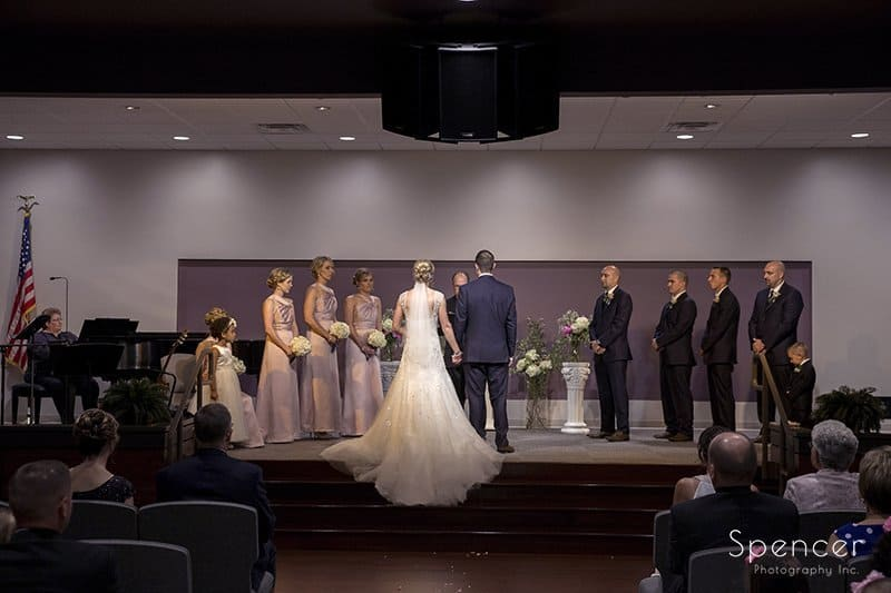 wedding party on stage at Canton Baptist Temple