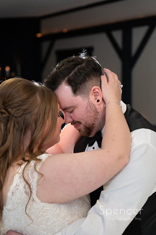 first dance at wedding reception in Indiana