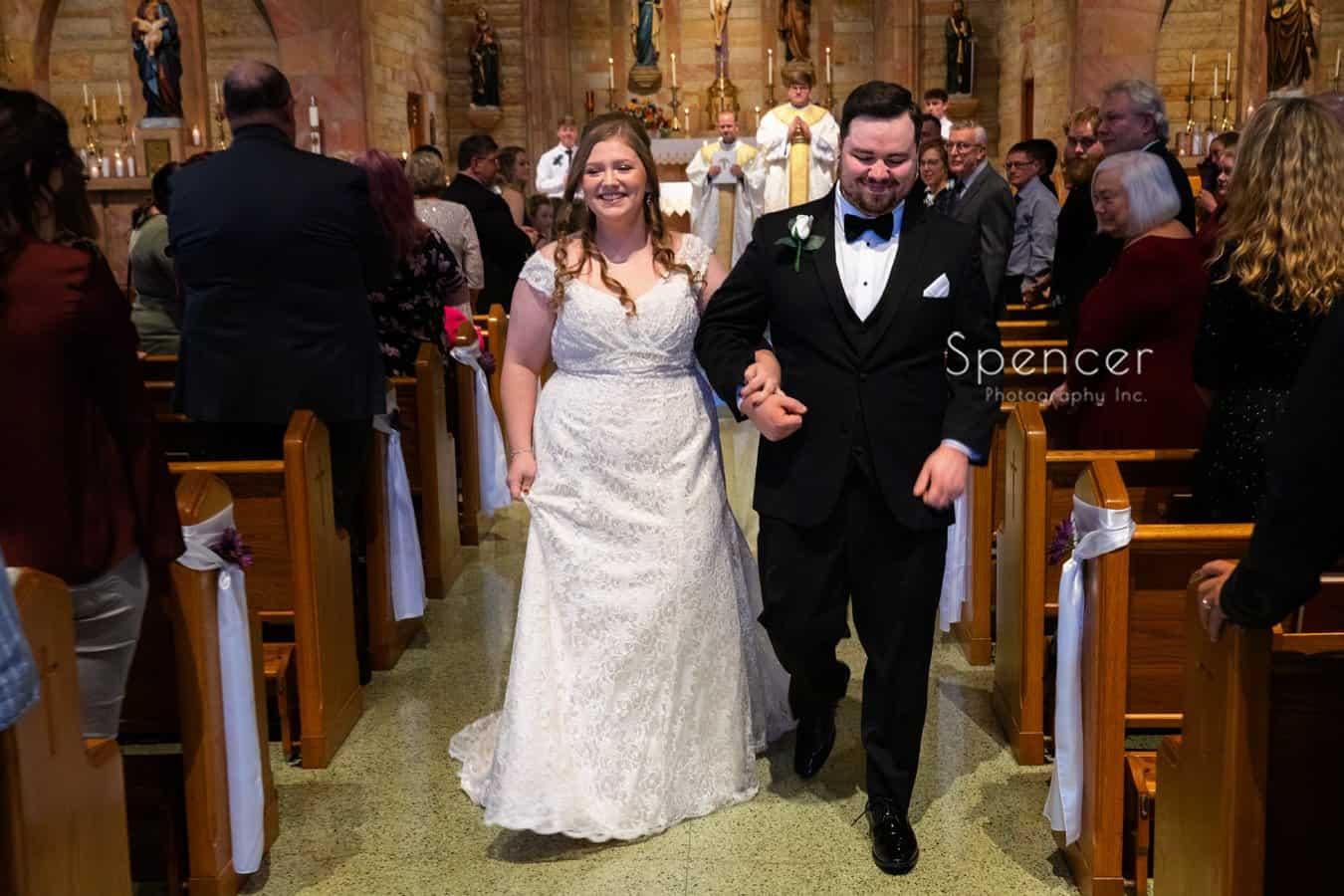 wedding processional at Indiana wedding ceremony