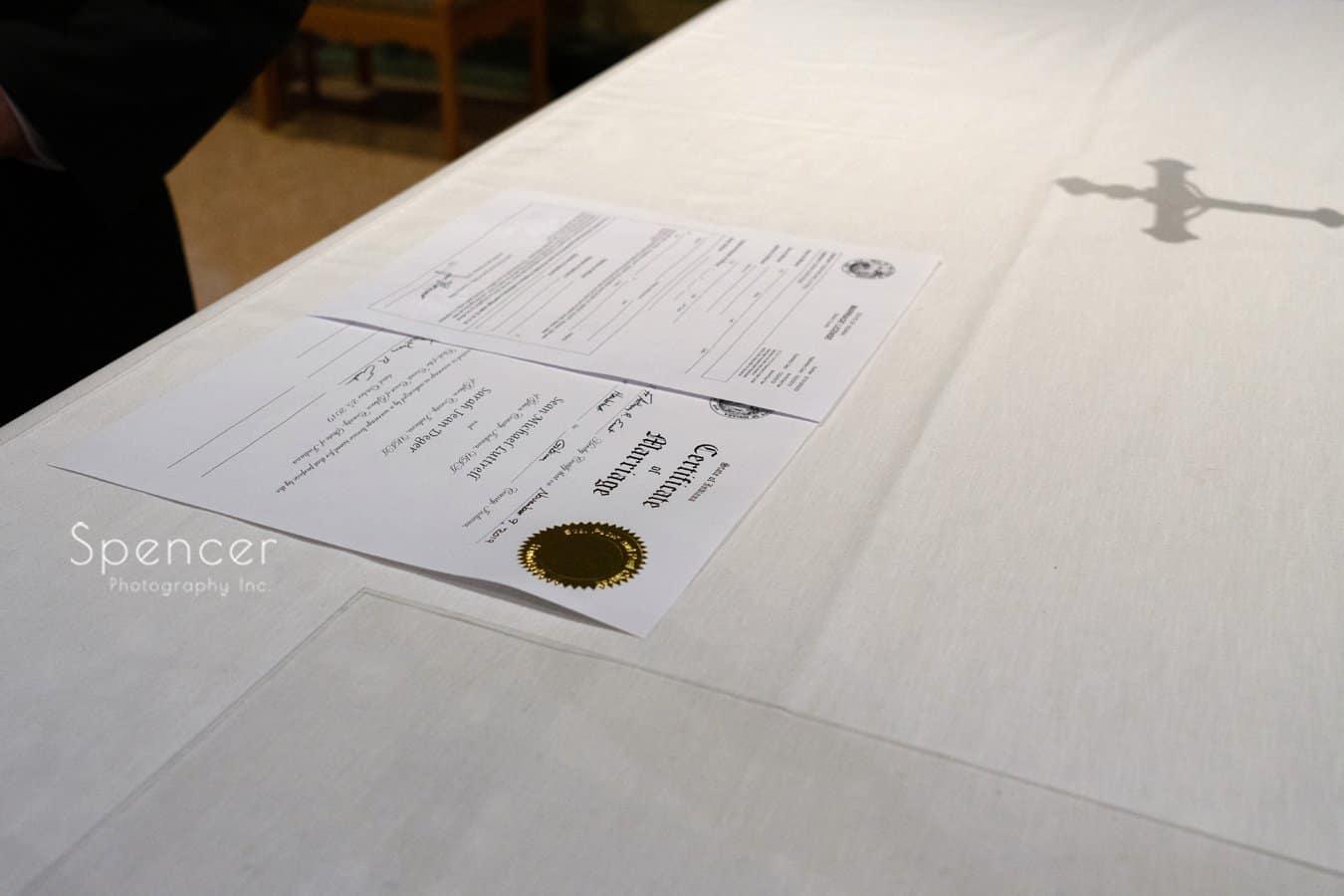 Indiana wedding license