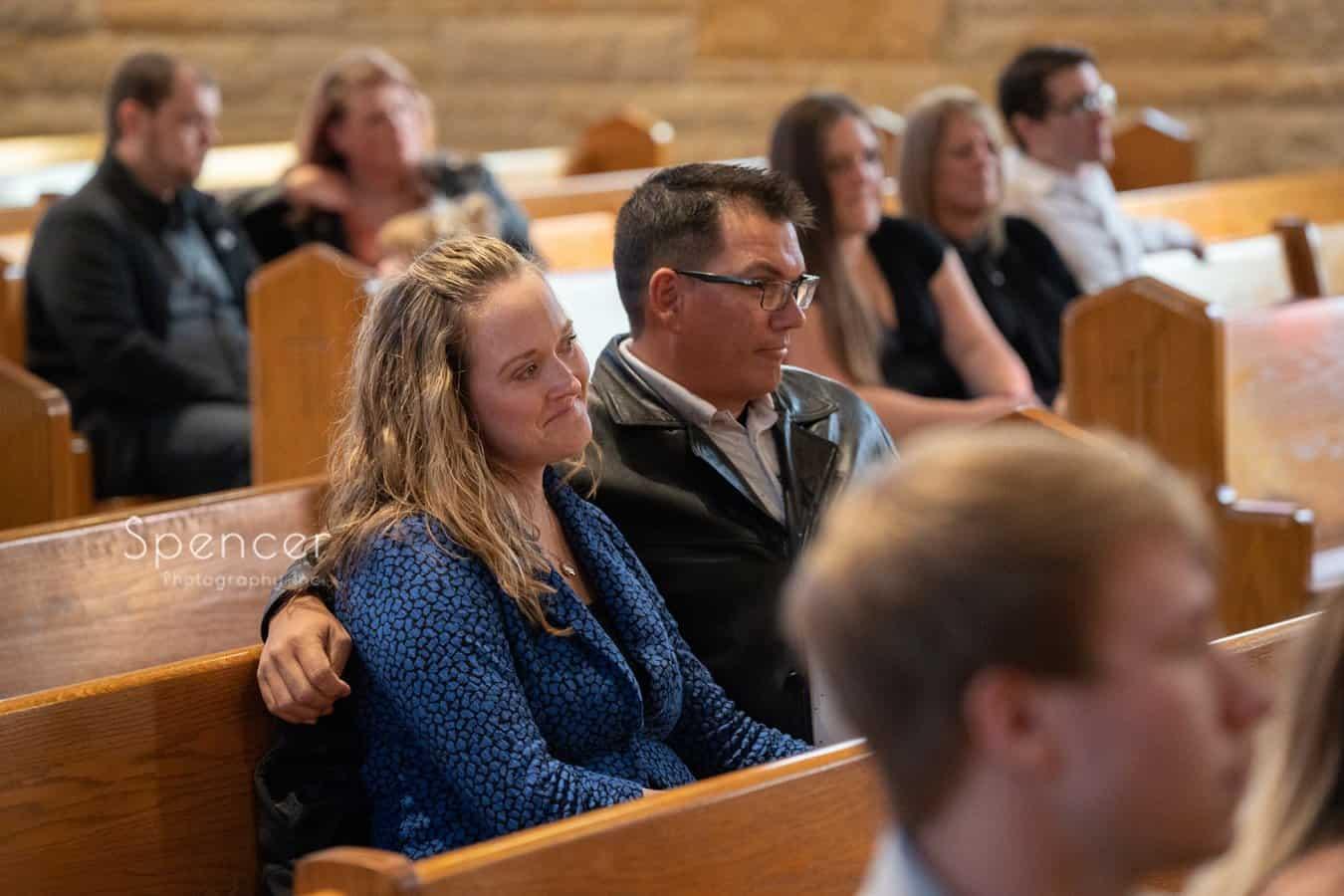 couple attending Indiana wedding ceremony