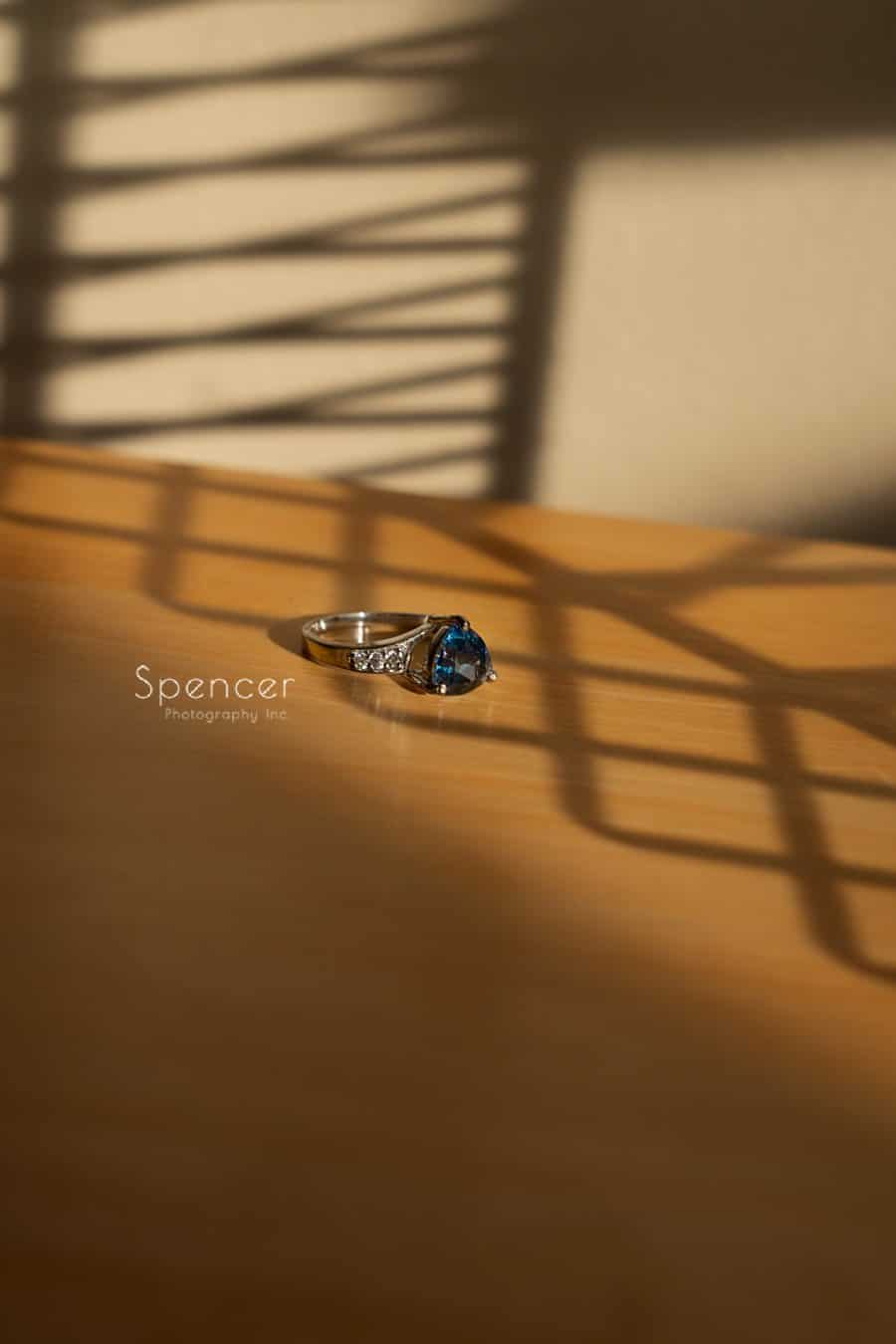 creative picture of brides ring