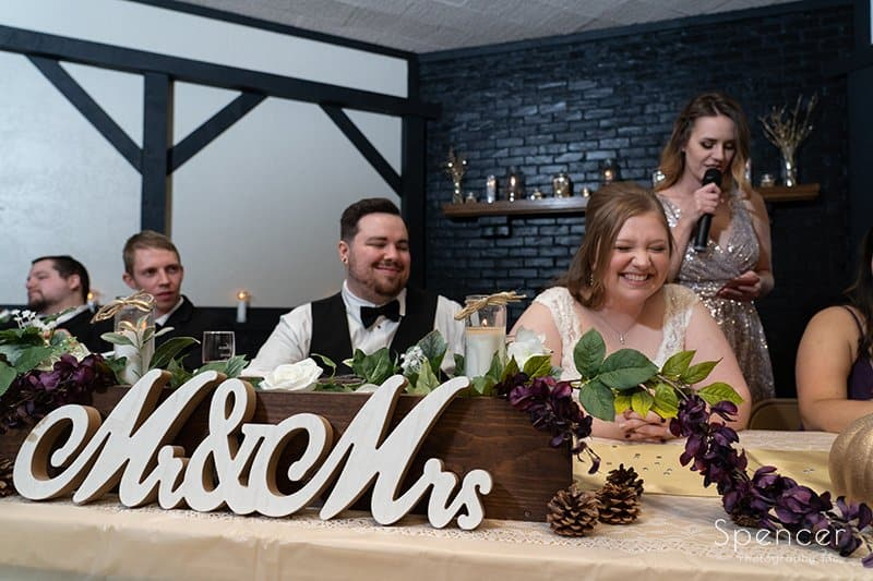 wedding party react ot maid of honor speech