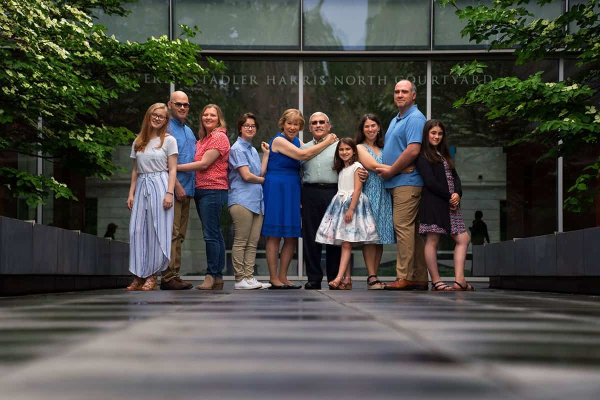 family picture at Cleveland Museum of Art