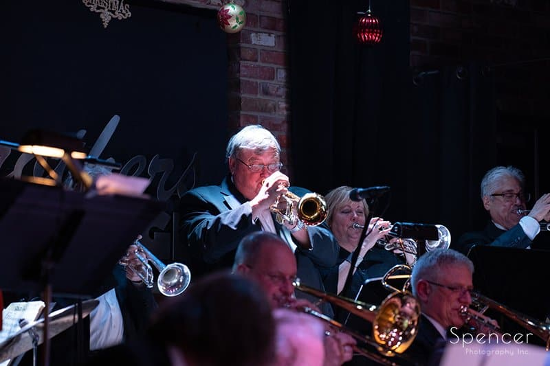 trumpet player soloing at Brothers Lounge