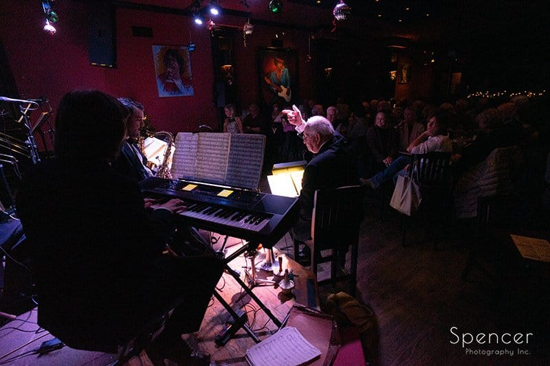 picture from behind bandstand at Brothers Lounge Lakewood