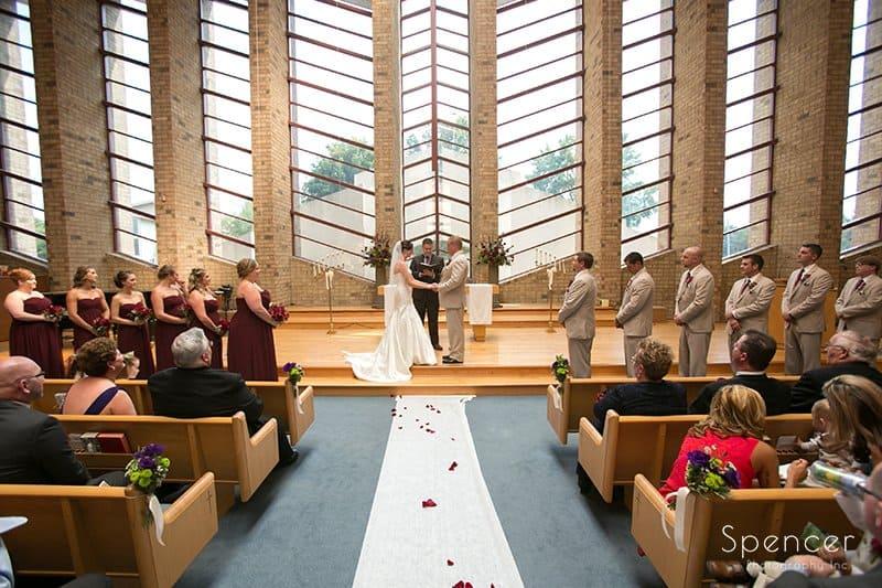 wedding ceremony at Montrose Zion church