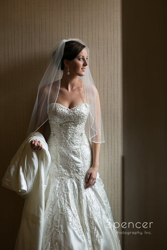 wedding picture of bride at Montrose Zion Church