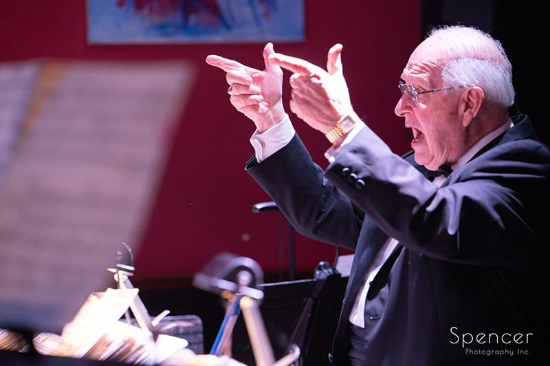 Dan Zola conducting his orchestra