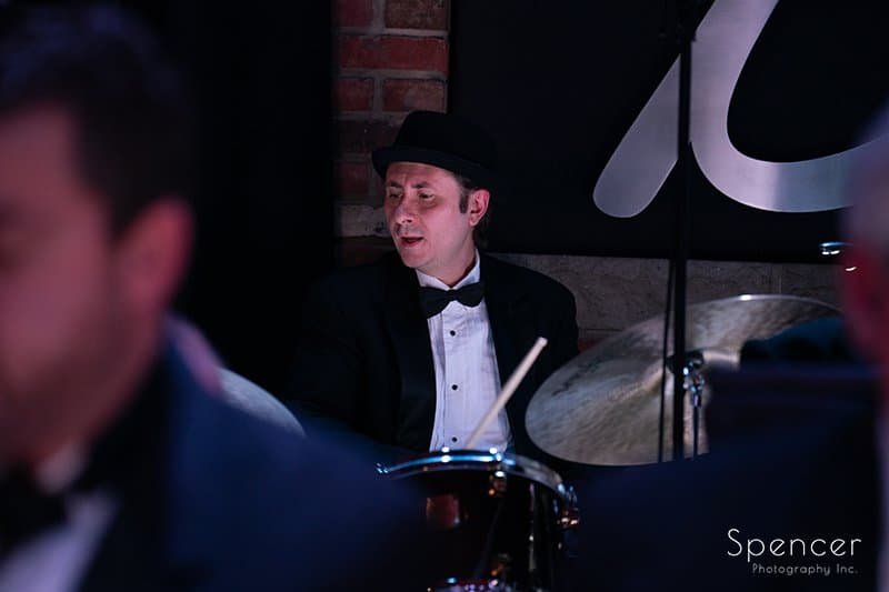 drummer of Dan Zola Orchestra at Brothers Lounge