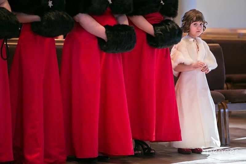 Christmas Wedding at Holy Angels Church // Cleveland Wedding Photographers