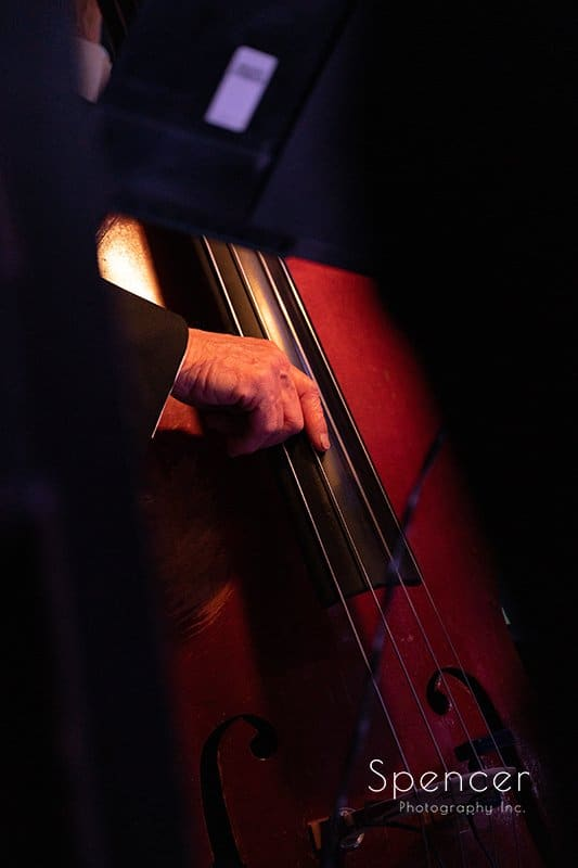 bass player of Dan Zola Orchestra at Brothers Lounge Lakewood