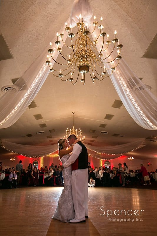 first dance at Michaud's wedding reception