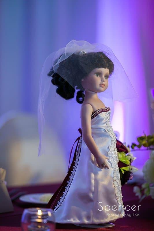 wedding reception detail at Cleveland Marriott East