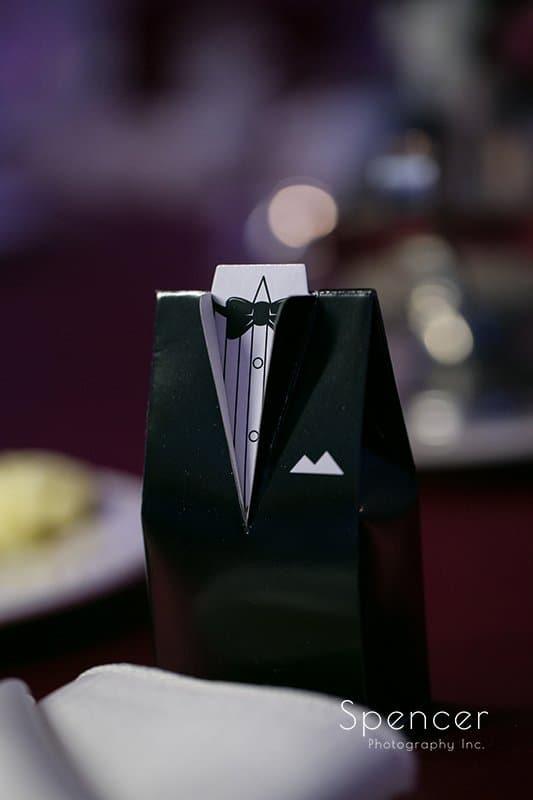 groom reception detail