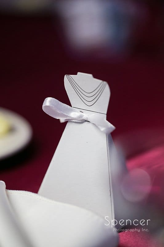 bride reception detail