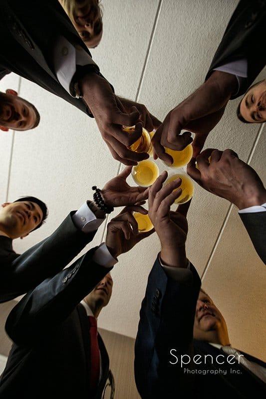 groomsmen toast to the groom