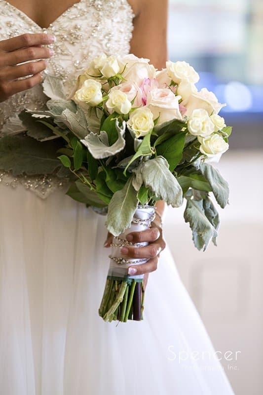 brides wedding day bouquet at st barnabas
