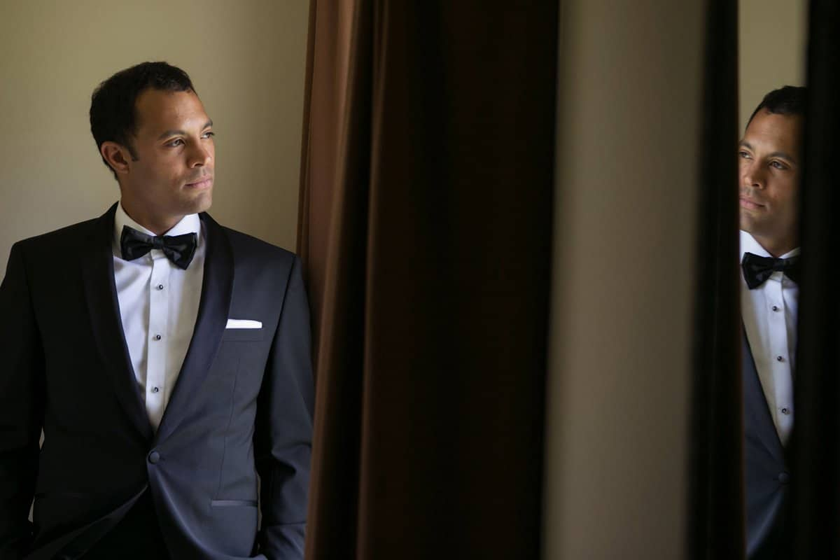 Picture of grooms wedding detail tuxedo