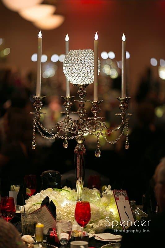 wedding reception centerpiece at Galaxy Restaurant